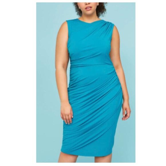 Lane Bryant Dresses & Skirts - Lane Bryant Teal Sheath Dress